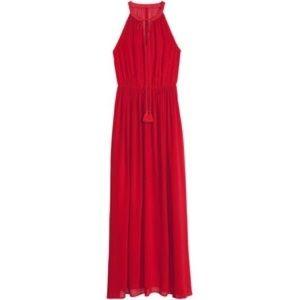 H&M | Red Chiffon Maxi Dress